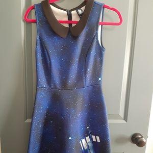 Sm Doctor Who Tardis Dress with peter pan collar